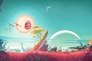 fan art, Digital art, Rick and Morty, No Man&039;s Sky, Video games, Humor