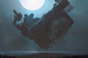 Kuldar Leement, Fan art, Fantasy art, Futuristic, Spaceship