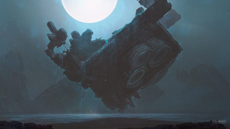 Kuldar Leement, Fan art, Fantasy art, Futuristic, Spaceship HD Wallpaper Desktop Background