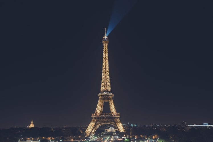 Eiffel Tower, Night, Night sky, Cityscape HD Wallpaper Desktop Background