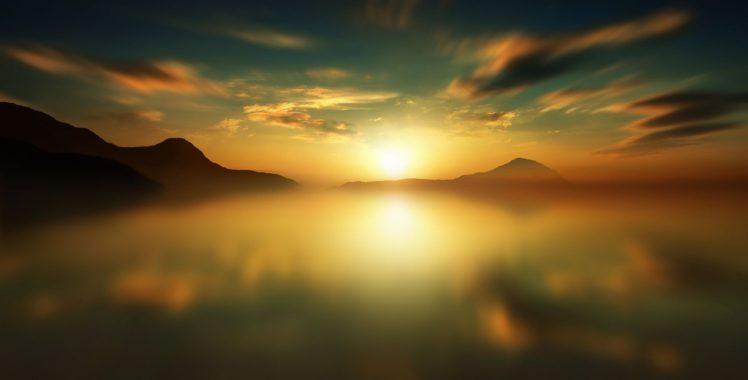 Anna Ovatta, Sunset, Mountains HD Wallpaper Desktop Background