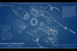 blueprints, Aperture Laboratories, Portal (game), Portal Gun