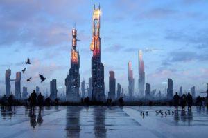 fantasy art, Futuristic, New paris