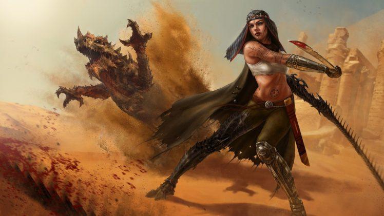 women, Warrior, Witchblade, Fantasy art HD Wallpaper Desktop Background
