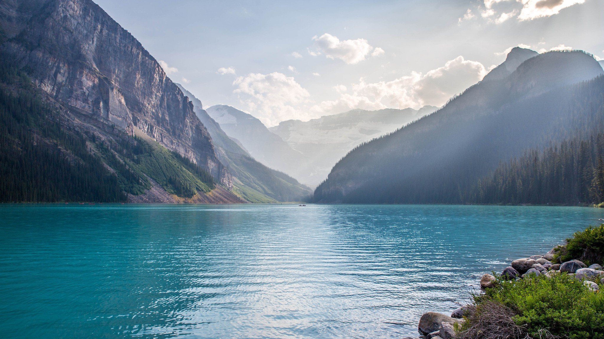 lake, Mountains, Water, Forest, Sky, Canada, Lake Louise ...Lake Water Wallpaper