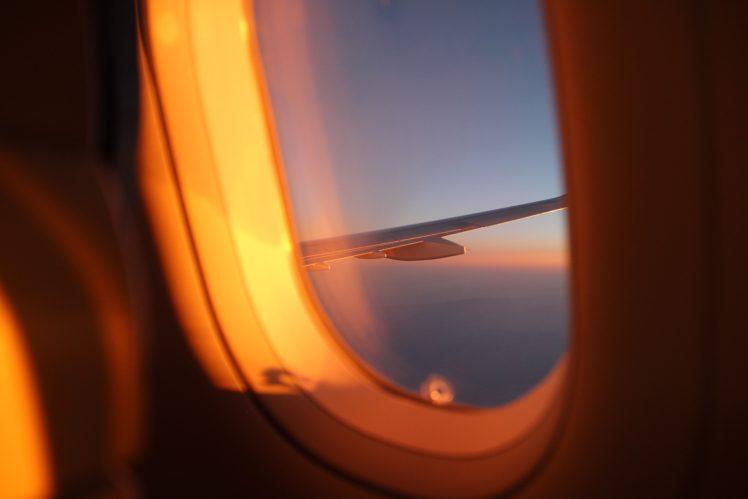 Airplane Sky Window Hd Wallpapers Desktop And Mobile