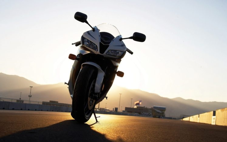 motorcycle, Honda, Race motorclyes, Sunset, Honda CBR HD Wallpaper Desktop Background
