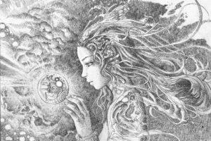 women, Artwork, Drawing