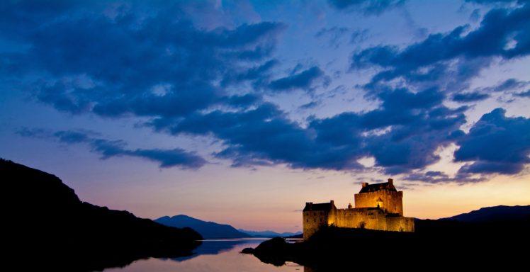 castle, River, Sky HD Wallpaper Desktop Background