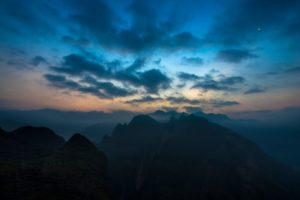 top view, Sky, Sunset