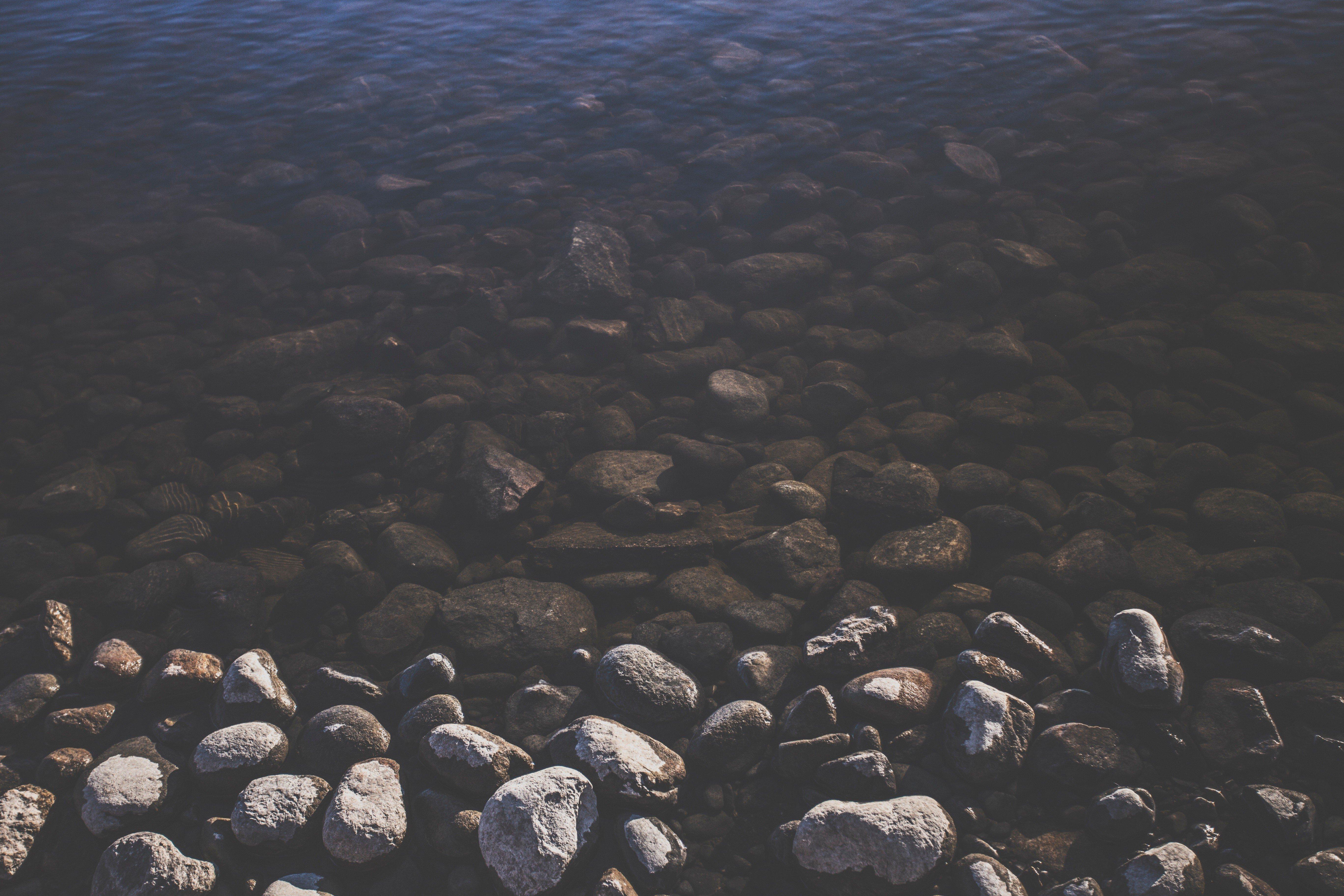 rock, Water, Nature Wallpaper
