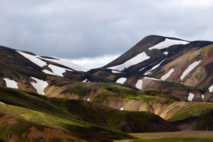 mountains, Sky, Nature, Landscape, Landmannalaugar, Iceland HD Wallpaper Desktop Background