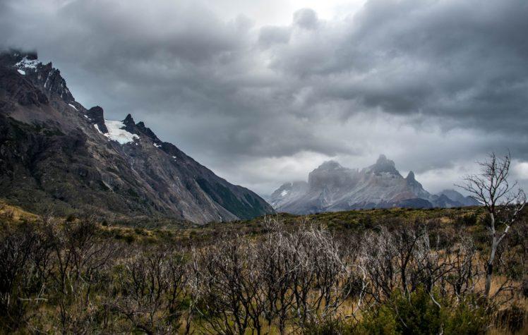 mountains, Trees, Nature, Clouds, Landscape HD Wallpaper Desktop Background