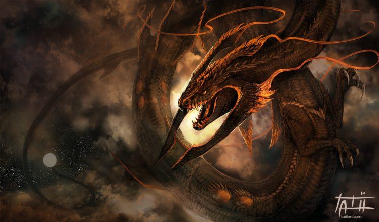 dragon, Fantasy art HD Wallpaper Desktop Background