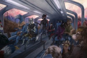 Anthro, Furry, Subway
