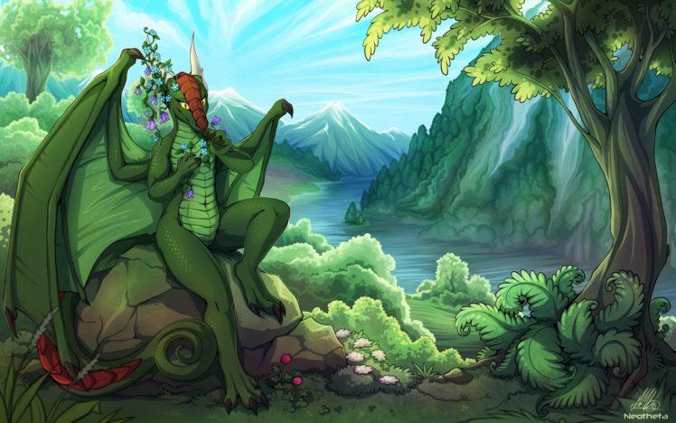 Anthro, Furry, Dragon HD Wallpaper Desktop Background