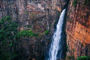 waterfall, Rock, Nature, Mountains