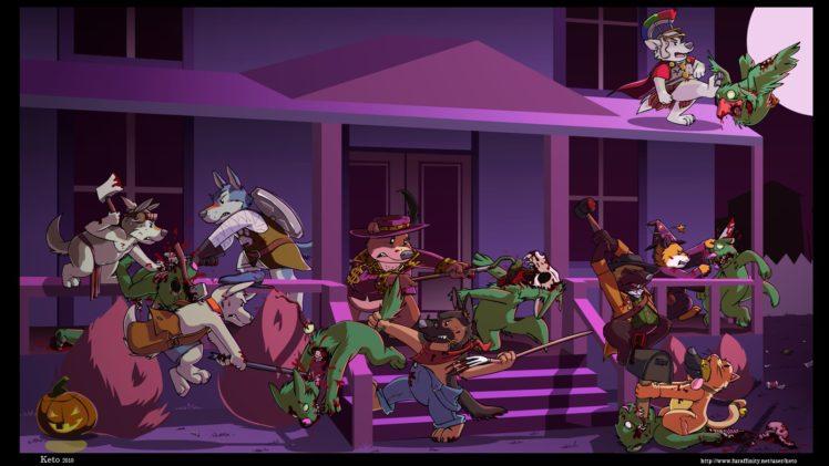 Anthro, Furry, Zombies HD Wallpaper Desktop Background