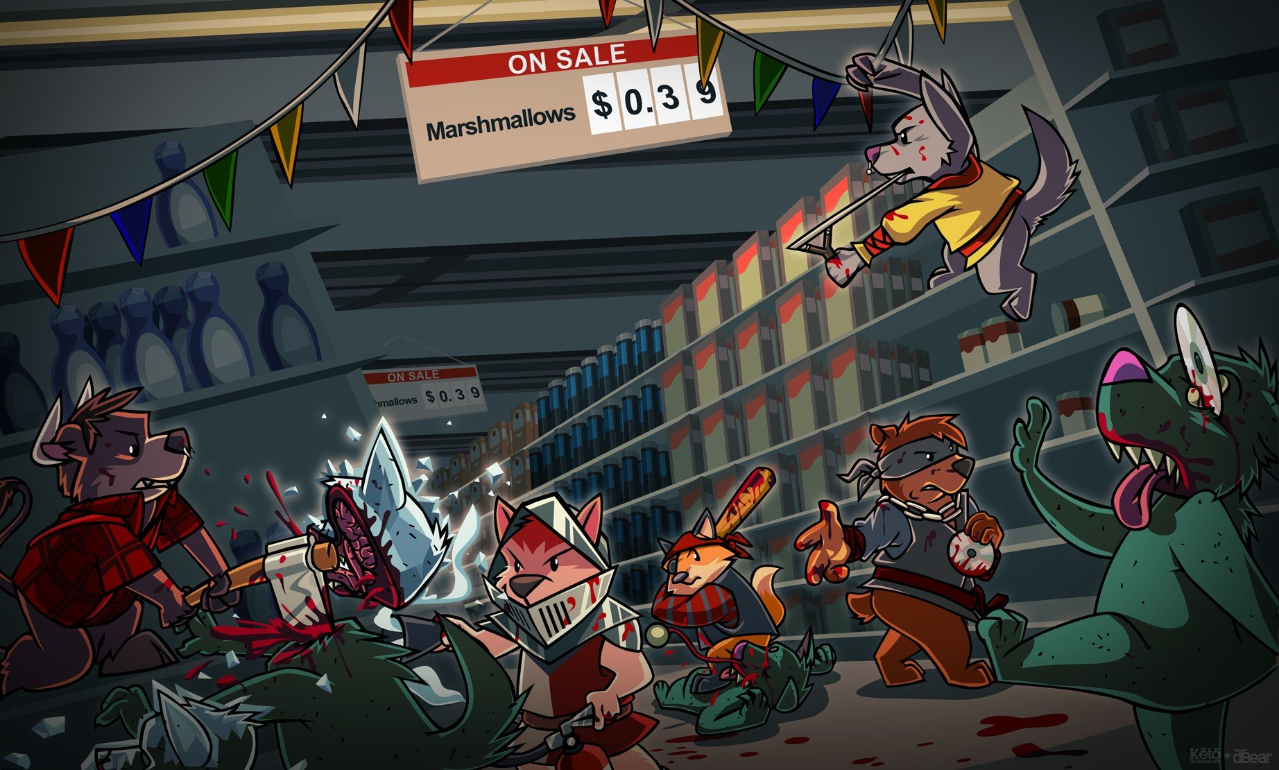 Anthro, Furry, Zombies Wallpaper