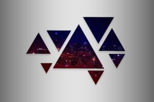 Chicago, Horizon, Cityscape, Abstract, Triangle, Colorful
