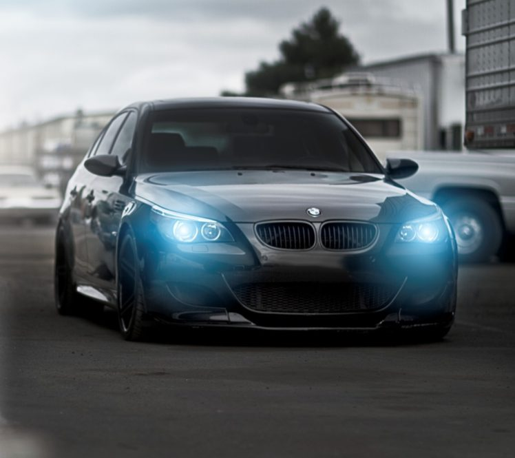 Blue Eyes Angel Eyes Bmw M5 Black Cars Hd Wallpapers