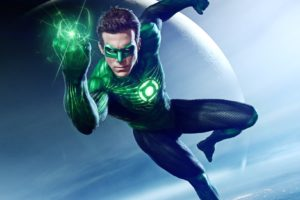 Green Lantern, 3D, Superhero, Mask, Costumes, Flying, Planet