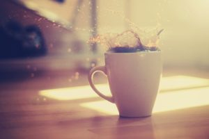 coffee, Cup, Splashes