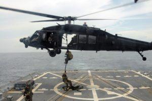soldier, Sikorsky UH 60 Black Hawk, Sea, Military, Vehicle