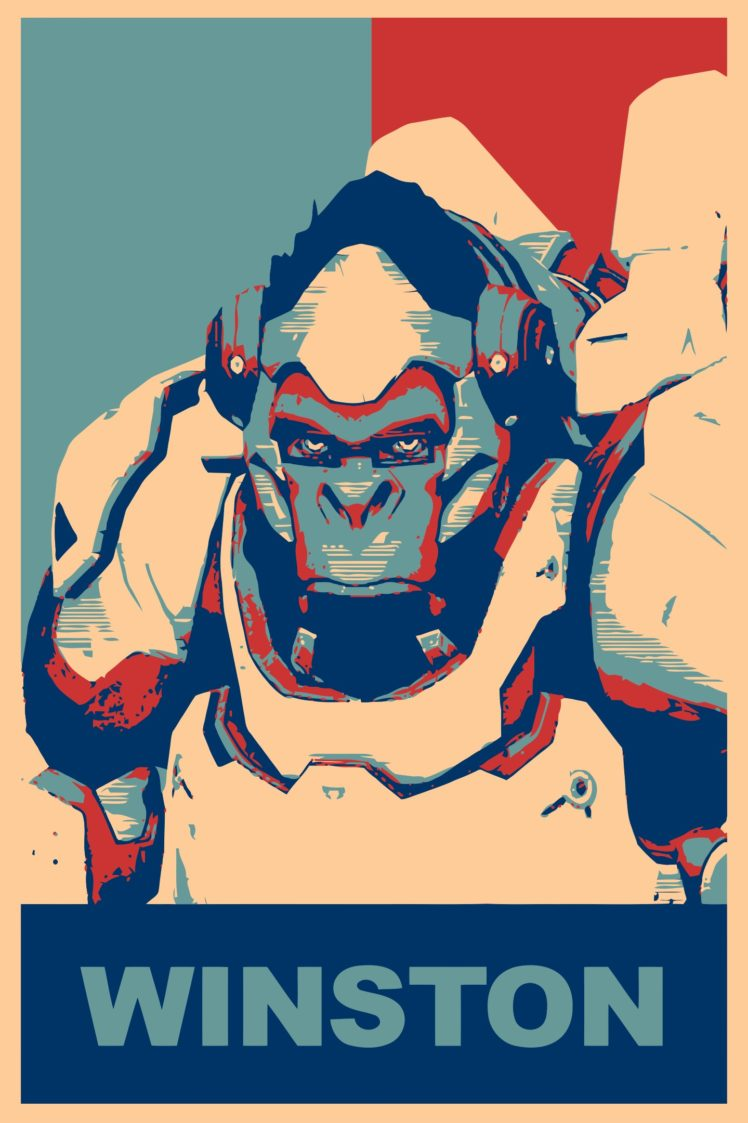 Winston Overwatch Propaganda Overwatch Gamer Hd Wallpapers