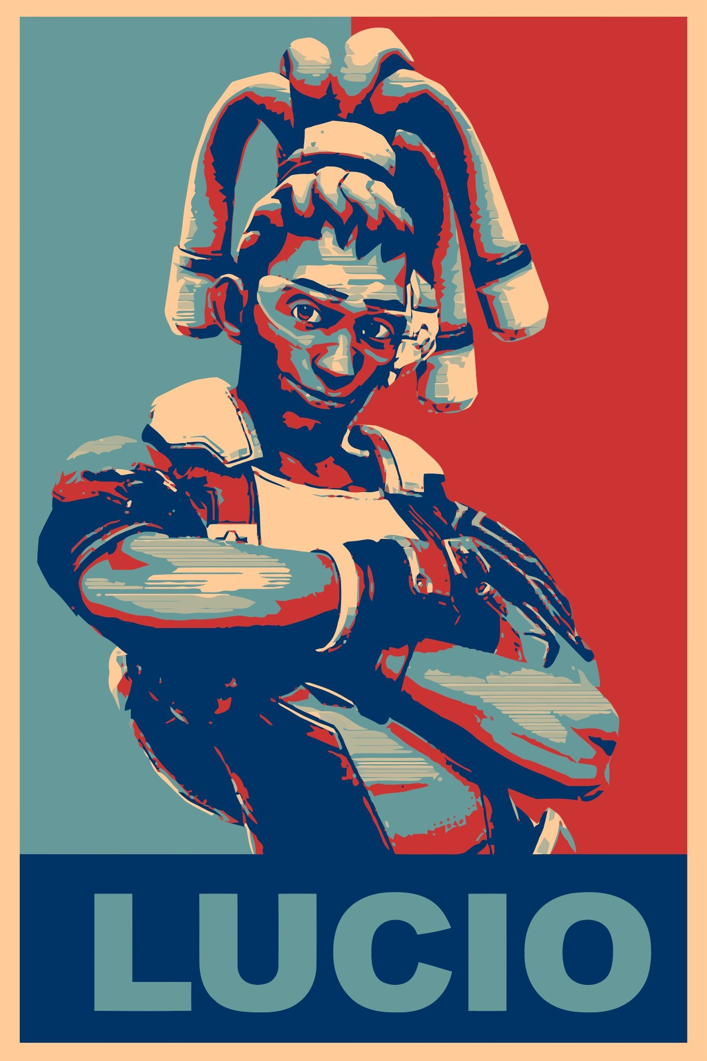 Lúcio (Overwatch), Propaganda, Overwatch, Gamer Wallpaper