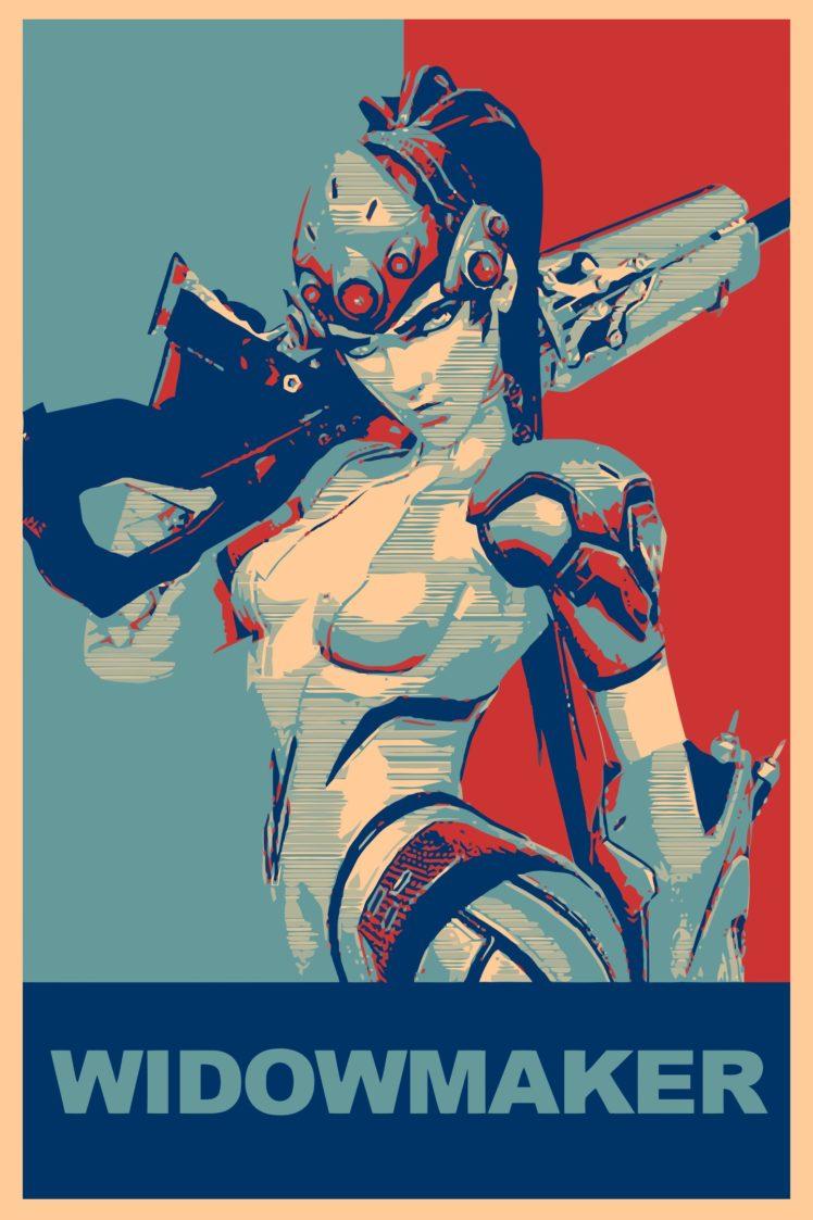 propaganda, Widowmaker, Overwatch, Gamer HD Wallpaper Desktop Background