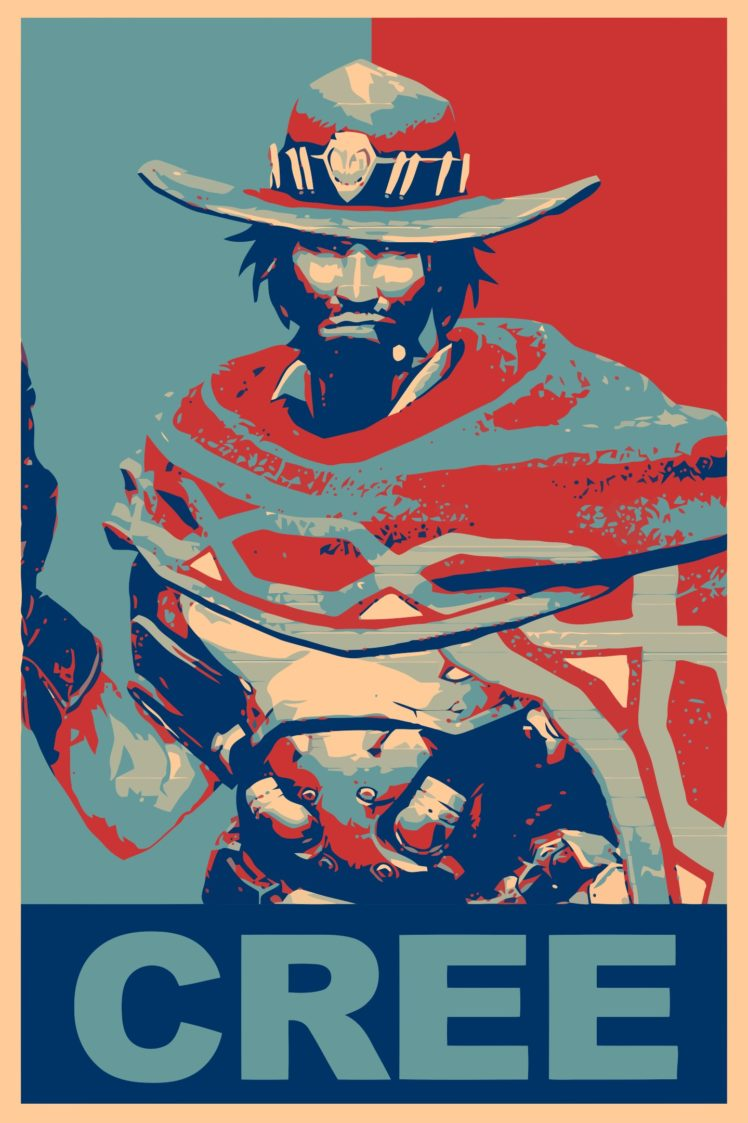 Propaganda Mc Cree Overwatch Gamer Hd Wallpapers Desktop And