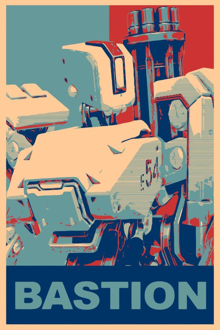 Bastion (Overwatch), Propaganda, Overwatch, Gamer HD Wallpaper Desktop Background