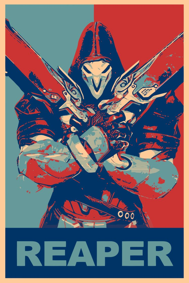 Propaganda Reaper Overwatch Overwatch Gamer Hd Wallpapers