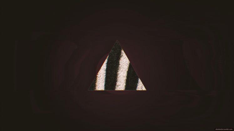 Glitch Art Abstract Triangle Minimalism Purple Hd Wallpapers