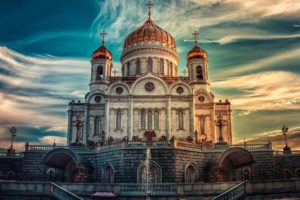 church, Russia, Building, Sky, Architecture