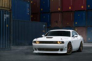car washes, White cars, Dodge Challenger SRT