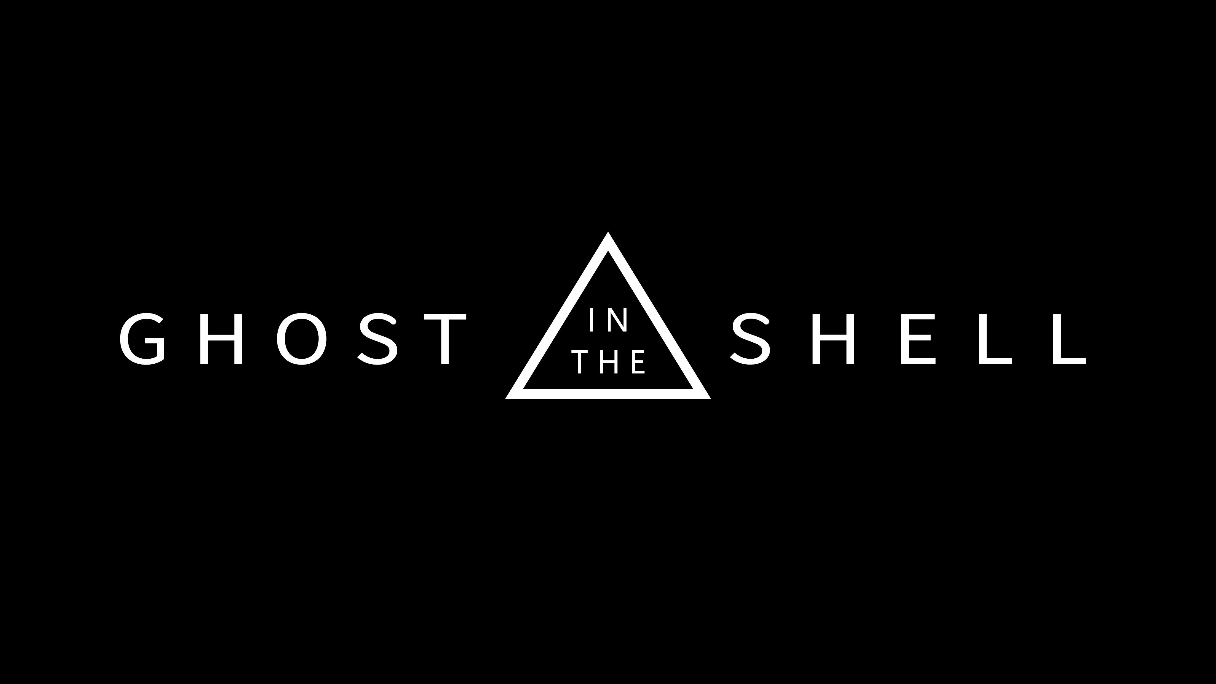 Ghost In The Shell Minimalism Simple Text Black Background