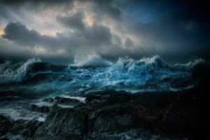nature, Landscape, Clouds, Water, Sea, Rock, Waves, Storm