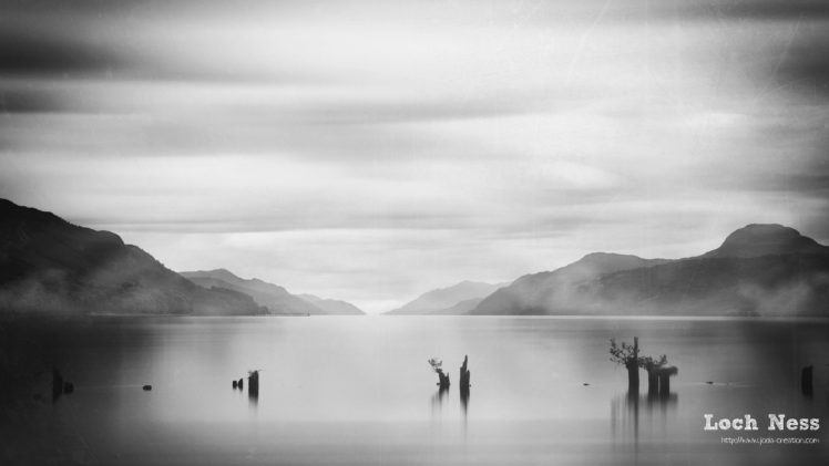 Nature Landscape Clouds Water Loch Ness Scotland Uk