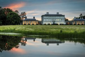 architecture, Building, Old building, Water, Ireland, Mansions, Lake, Reflection, Nature, Landscape, Sunset, Field, Trees