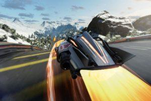 video games, Shin&039;en Multimedia, Ship, Futuristic, Fast Racing Neo, Mueller PLS, Race tracks, Snow, Rock, Landscape, Trees