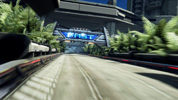Fast Racing Neo, Video games, Landscape, Race tracks, Trees, Building HD Wallpaper Desktop Background