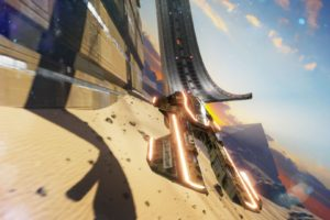 Fast Racing Neo, Shin&039;en Multimedia, Ship, Futuristic, Desert, Video games, XISLE, Pyramid, Flying, Landscape, Rock