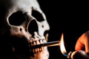 cigarettes, Death, Smoking, Lighter, Skull