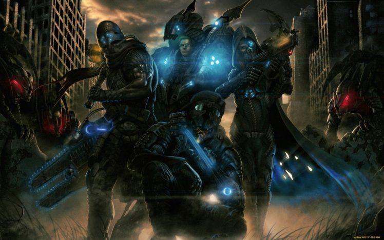 warrior, Science fiction, Artwork HD Wallpaper Desktop Background