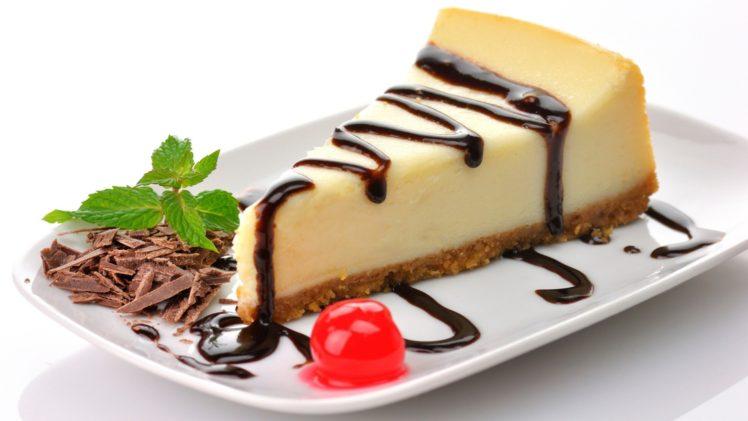 Cheesecake, Chocolate, Cherries, Dessert, Cake HD Wallpaper Desktop Background