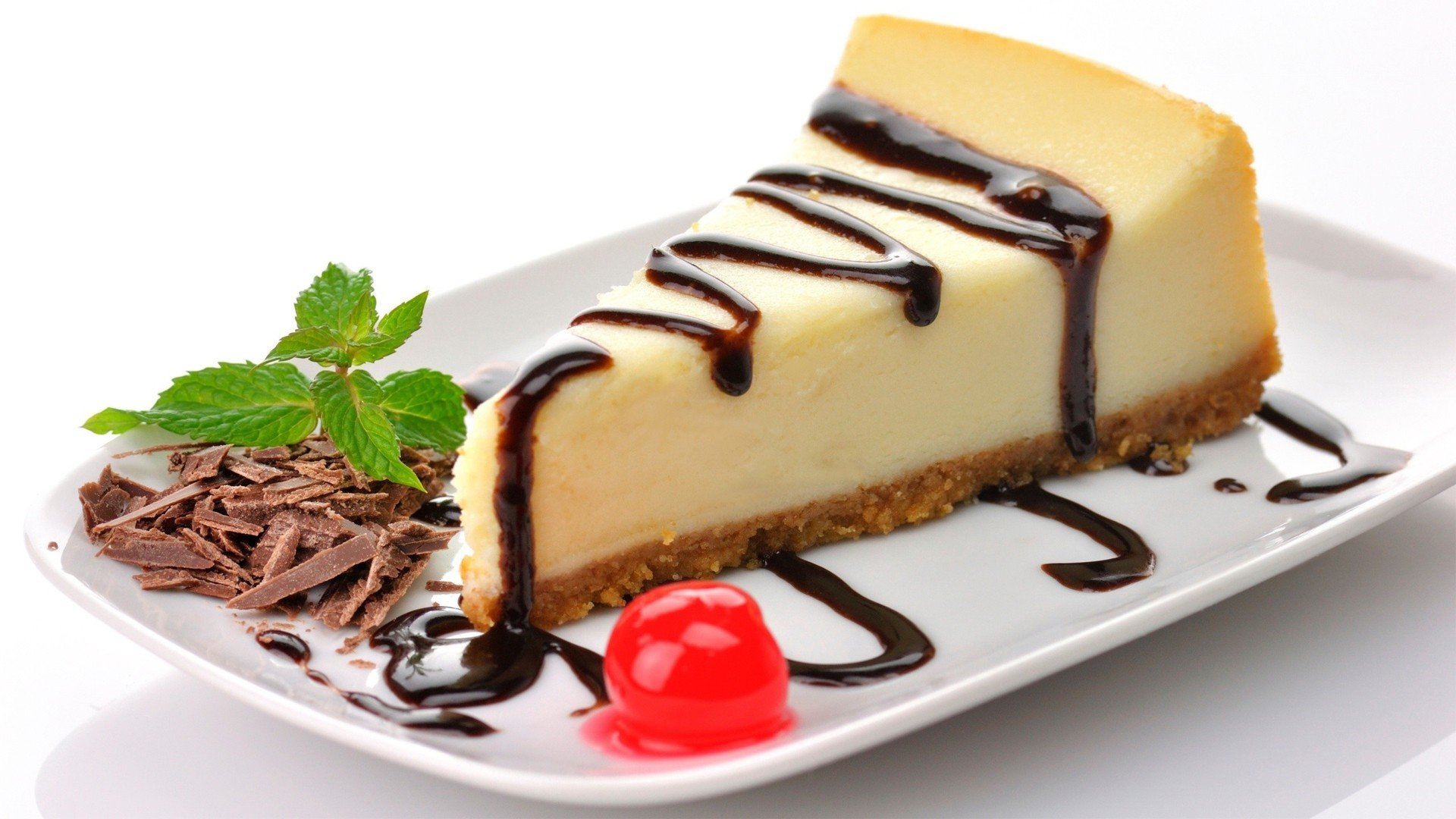 Cheesecake Chocolate Cherries Dessert Cake Hd Wallpapers Desktop And Mobile Images Photos