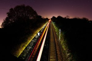 long exposure, Train, Photography, Light trails