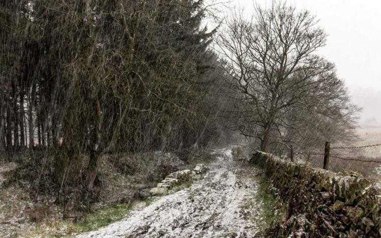 snow, Winter, Landscape, Road HD Wallpaper Desktop Background